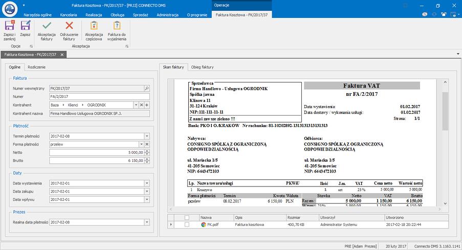 Zarządzanie procesami biznesowymi - system Connecto DMS